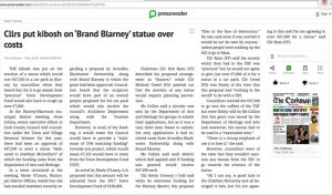 Cllrs put kibosh on Brand Blarney statue over costs