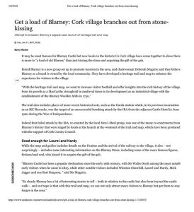 Irish Times - Get a load of Blarney article