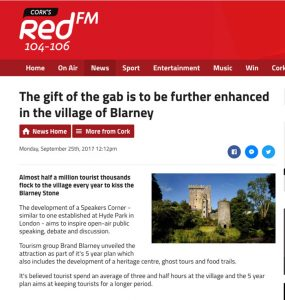 RedFM article The gift of the gab is to be further enhanced in the village of Blarney