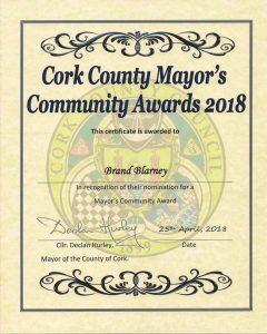 Cork County Mayor's Community Awards 2018