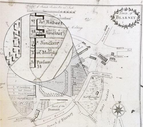 plan of Blarney village